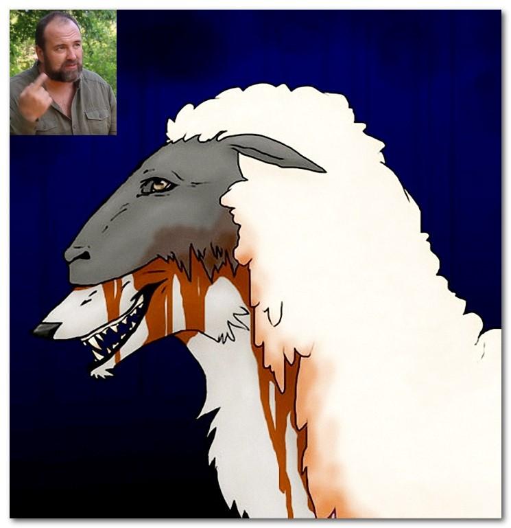 Для, открытка волк в овечьей шкуре